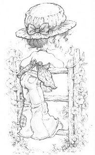 Mais desenhos para colorir da Sarah Kay.                                                          C...