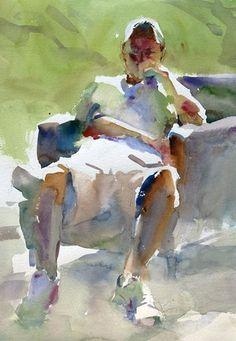 Tom Francesconi: Andrew #watercolor jd