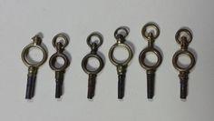 6 Antique Pocket Watch Keys  #Unbranded