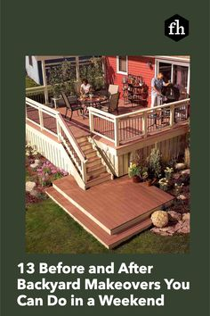 13 Before and After Backyard Makeovers You Can Do in a Weekend Woodworking Projects, Diy Projects, Backyard Makeover, You Can Do, Home Improvement, Advice, Mansions, Canning, Landscape