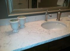 Cambria Torquay Vanity De Pour La Compagnie Stratech Bathroom Countertops