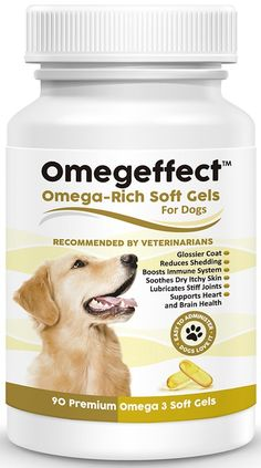 100% Pure Omega 3 Fish Oil for Dogs - Best Soft Gels For Skin, Coat, Joint and Heart Health. From Wild Caught Fish - Better Source of DHA and EPA Than Alaskan Salmon Oil -- You can get more details here : Dog Health Supplies