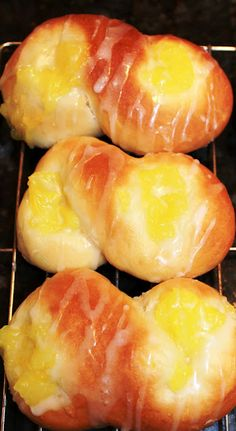 Lemon Buns - from scratch (including the lemon filling) --these are delicous!