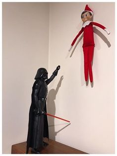 Elf on the Shelf: Try to use the force, Jingle Bells! ~ December 2016