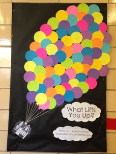 What Lifts You Up Bulletin Board - Up Themed :)