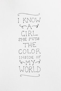Daughters ♥ this would be so great as a decal in our future baby girls room, my father daughter dance song at my wedding :)