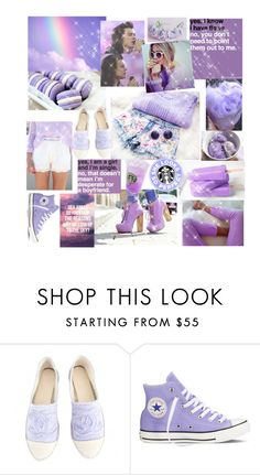 """Lavender mood"" by maryanacoolstyles ❤ liked on Polyvore featuring Chanel, Converse and By Emily"