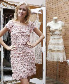 Lindo vestido de croche da Vanessa Motoro // with chart