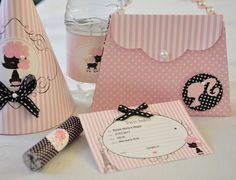 Papetier: Convite da Barbie Moda e Magia