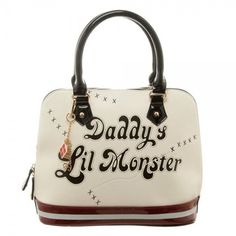 "Harley Quinn ""Daddy's Lil Monster"" Dome Handbag"