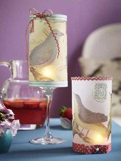 DIY-Ideen 201328 Diy Inspiration, Pillar Candles, Alcoholic Drinks, Wine, Bottle, Glass, Pots, Decorating, Paper Mill