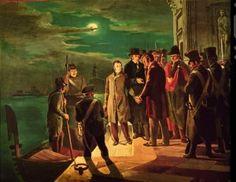 C. F. Biscarra (copia di A. Scibaldi), Silvio Pellico e Pietro Maroncelli condotti allo Spielberg (25-26 marzo 1822), 1938. © Museo Nazionale del Risorgimento Italiano di Torino.