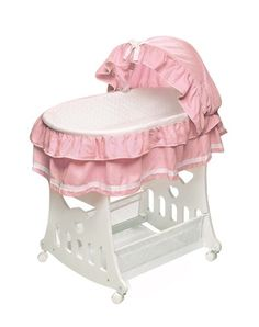 Badger Basket Portable Bassinet N Cradle with Toybox Base Pink Waffle Ruffled >>> You can get additional details at the image link.Note:It is affiliate link to Amazon.