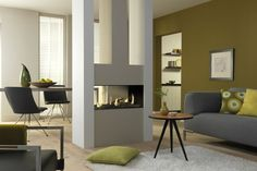 The Dru Metro Tunnel Balanced Flue Gas Fire is a gas fireplace and one of the best focal point fires.Get one at West Country Fires. Gas Fire Stove, Gas Fires, Small Room Divider, Double Sided Fireplace, Fireplace Design, Home Renovation, Hearth, Tall Cabinet Storage, Living Spaces