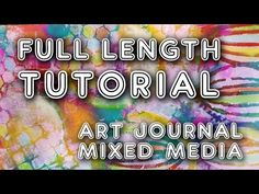 Studio Time 38 - ''Heavenly Art Journal'' mixed media tutorial  | Mimi B...