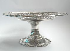 Antique - Art Nouveau - Edwardian Silver Tazza - Mappin & Webb - 1905 - 261.7g in Antiques, Silver, Solid Silver | eBay