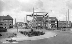 Parkbrug met gezicht op Hoornsediep westzijde,  1940