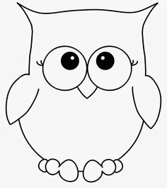large owl template - Google Search