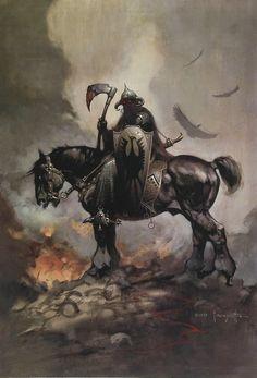 FRAZETTA ART POSTER EGYPTIAN QUEEN 24x36 FANTASY 806