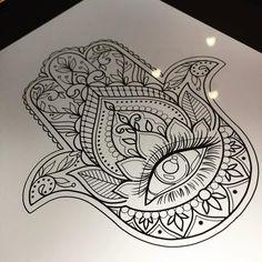 tattoos design your own free Hamsa Hand Tattoo, Hamsa Tattoo Design, Hamsa Design, Tattoo Designs, Hasma Tattoo, Eye Mandala, Dotwork Tattoo Mandala, Neue Tattoos, Body Art Tattoos