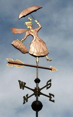 Mary Poppins Weathervane - Custom Design & Metals