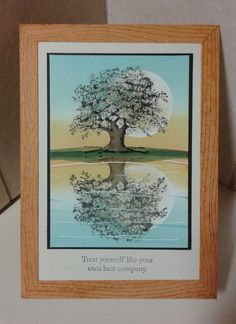 beautiful reflection card