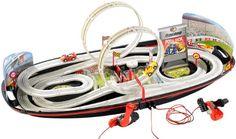 Playtastic Portable Rennbahn im Koffer mit Looping & Handkurbel