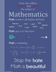 Math is love, math is life.