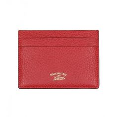 Gucci Red Leather Swing Card Case ($140) ❤ liked on Polyvore featuring men's fashion, men's bags, men's wallets, mens leather credit card holder wallet, mens red wallet, mens leather card case wallet, mens leather wallets and mens card holder wallet