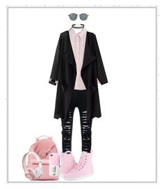 """""""Untitled #198"""" by appleface80 ❤ liked on Polyvore featuring Dr. Martens, Ray-Ban, Humble Chic, Keds, Casetify and Beats by Dr. Dre"""