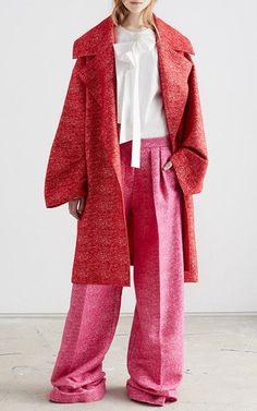 Wool Tweed Larchmont Trousers by ROKSANDA for Preorder on Moda Operandi