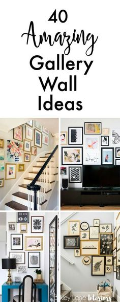 If you're looking for gallery wall ideas and inspiration, search no more! I've collected 40 amazing gallery ideas that will definitely get you excited!