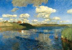 Isaac Ilyich Levitan (Lithuanian-Russian, Landscape of Mood, 1860–1900): The Lake (Russia), 1900. - Google Search