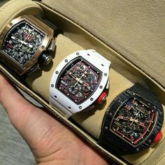 A game ending trifecta courtesy of Richard Mille Amazing Watches, Beautiful Watches, Cool Watches, Rolex Watches, Richard Mille, Mens Designer Watches, Luxury Watches For Men, Audemars Piguet, G Shock