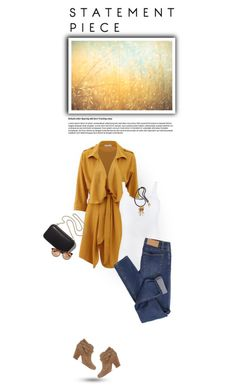 """""""Statement Piece: Harvest Yellow Blazer"""" by jillnmitchell ❤ liked on Polyvore featuring rag & bone, Vince, Cheap Monday, Lizzie Fortunato and Clare V."""