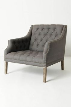 love everything about this chair.   benson chair | grey | anthropologie