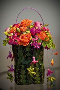 orange and fushia flower purse, Françoise Weeks