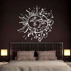 Sun And Moon Wall Decals For Bedroom Sun Moon And by FabWallDecals