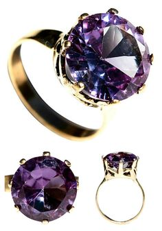 10K Gold 8-Carat Alexandrite Ring – Yourgreatfinds