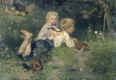 Allebé, August - The Butterflies,1871