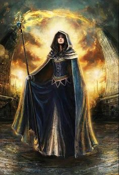 Moiraine (The Wheel of Time). This is definitely an intricately woven, yet marvelous read for a fantasy series. | fantasy art cleric female magician | blue dress | character concept
