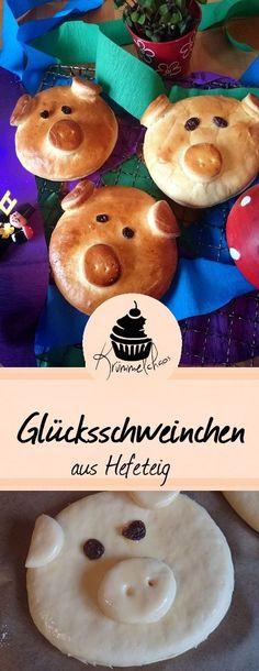 Mit diesen süßen Glücksschweinchen aus leckerem Hefeteig könnt ihr eure Lieben zu Silvester überraschen!