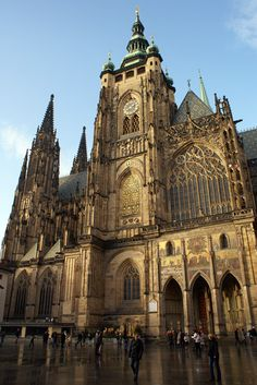 Czech Republic. St. Vitus Cathedral, Prague, XIV century