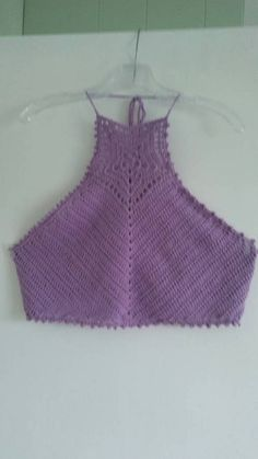 Check out this item in my Etsy shop https://www.etsy.com/listing/519742690/lavender-crochet-halter-top-size-small