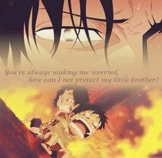 Luffy and Ace One Piece Comic, Ace One Piece, One Piece Seasons, Anime One, Anime Manga, One Piece Quotes, One Piece Tattoos, Anime Siblings, Ace Sabo Luffy