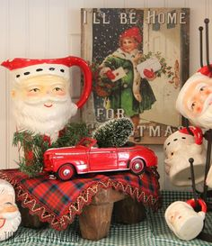 Christmas Vignette -- Decorating with thrifted items.