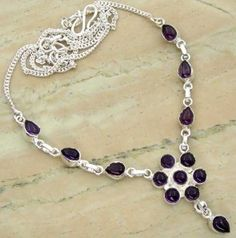 10.78ctw Genuine Amethyst & .925 Sterling Silver Plated Brass Necklace (SJHN0084ACAB) #silvernecklace #silvernecklacesforwomen #necklacesilver #necklacependants #necklacejewelry #sterlingsilvernecklace #jewelrynecklaces #handmadenecklaces #silvernecklaces #longsilvernecklace #personalizednecklaces #womensnecklace #silvernecklaceformen #menssilvernecklace #mennecklaces #mensnecklaces #gemstonenecklace #gemstonenecklaces Buy Now…
