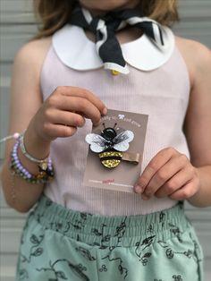 Bumblebee Hair Clip! SHOP Summer Accessories at www.giddyupandgrow.etsy.com