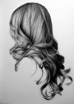 Brittany Schall. These drawings of hair.  If only I could get mine to look like this in real life!