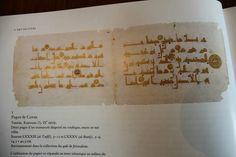 Pages de noble et saint Coran de Kairouan du 9eme siècle Aghlabides/ Abbasside d'Ifriqiya de Kairouan